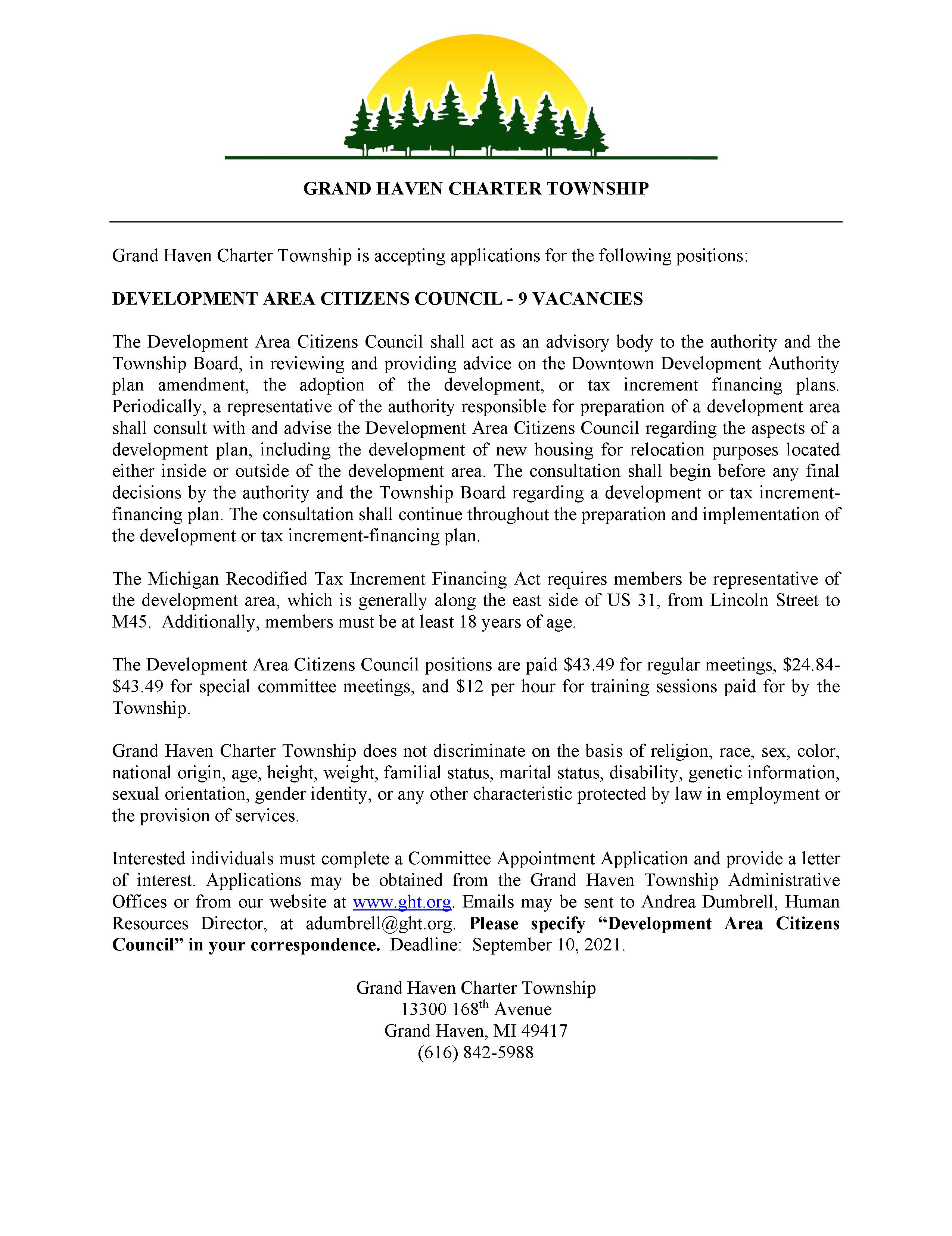 Development Area Citizen Council